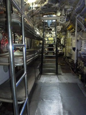 Crew bunks in the Rear Torpedo Room of the b-427 Scorpion