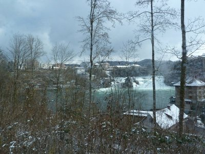 Last view of the Rhine Falls