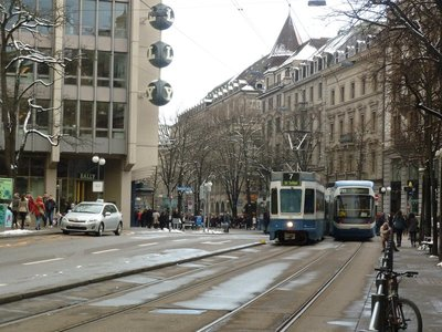 Bahnhofstrasse - the main shopping street in Zurich