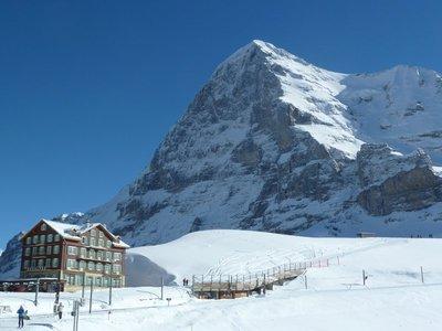 Classic view from Kleine Scheidegg