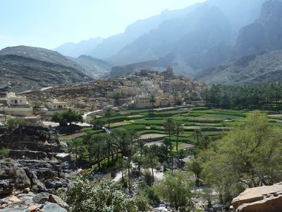 The village of Balad Sayt in the Western Hajar Mountains