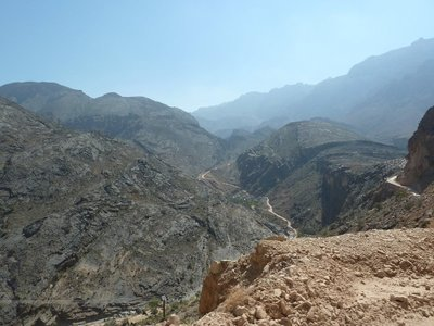 Snake Pass in the Western Hajar Mountains