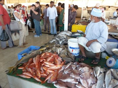 Mutrah Fish Market - the cruise liner tourists arrive