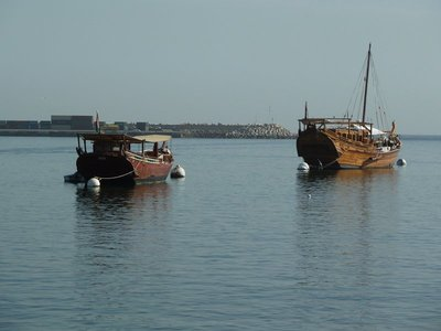 Dhows in Mutrah Harbour