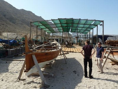 The Boatyard on Qantab Beach where the Jewel of Muscat was built