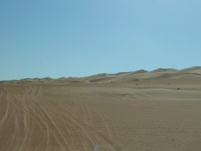 My first view of the soft sands of the Arabian Desert