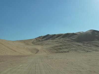 This was a particularly large sand dune that eventually beat us and we had to give up trying to climb it in case we got stuck