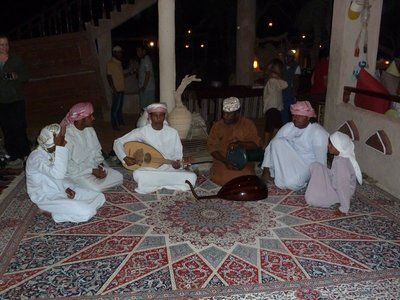 We had Bedouin music to accompany our meal