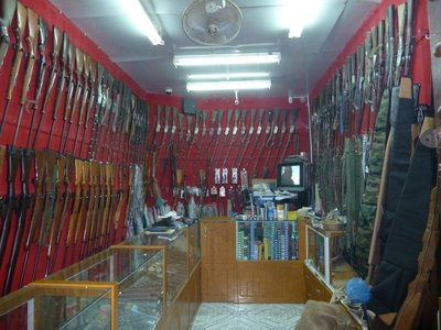 Gun shop in Nizwa Souq