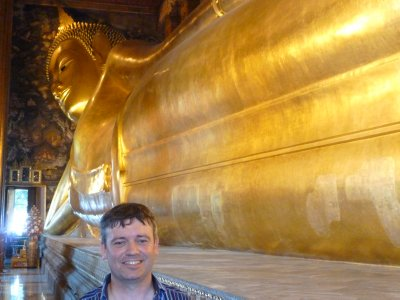 Me by the Recling Buddha