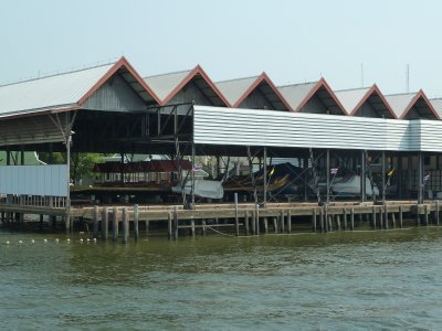 The Royal Barge Sheds by the Phraya River