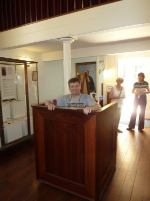 Me in the dock at the Old Court House in Perth