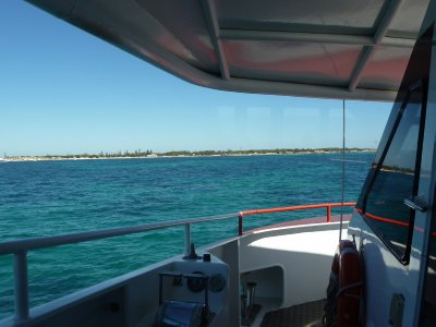 Approaching Rottnest Island on the Ferry