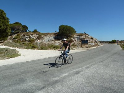 Me exploring Rottnest Island by bicycle