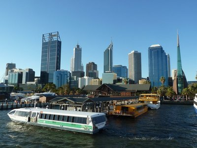 Perth from the Barrack Street Jetty