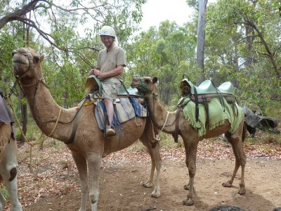 Me on a camel trekking through the Perth Hills