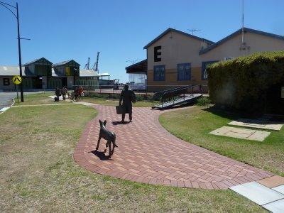 Migrant Statue near the Fremantle E-Sheds
