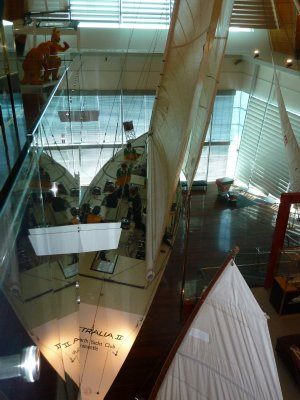 The 1983 Americas Cup winning yacht Australia II
