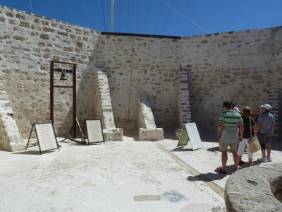 The courtyard within the Round House