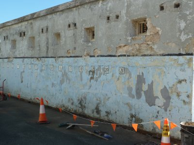 Prison superstition - 6 and 16 missing from a wall because they look like a hangman's noose