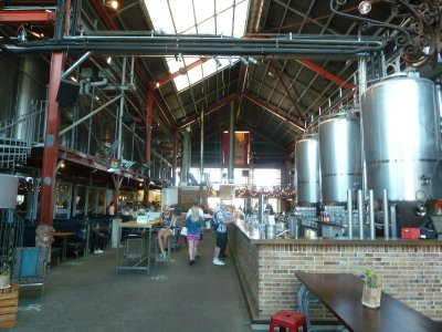 The bar inside the Little Creatures Micro Brewery