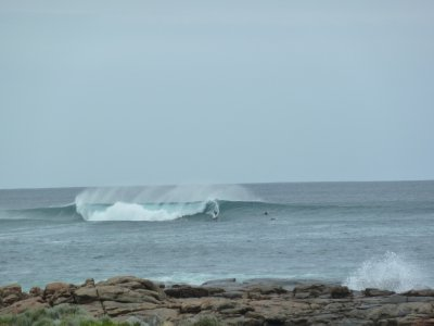 Surfers practice at Surfers Point, Margaret River