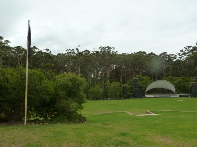 The stage all set for the next open air concert at the Leeuwin Estate