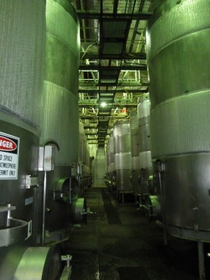 Wine fermenting in the vats at the Leeuwin Estate