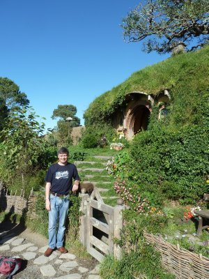 Me stood by the front gate of Bag End