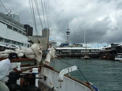 Returning to port aboard the Ted Ashby off Auckland