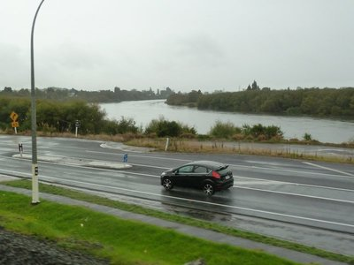 The Waikato River bending away towards the coast