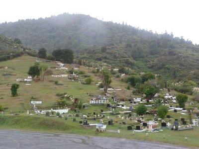 Maori cemetery on the sacred mountain of Taupiri