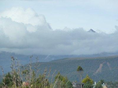 Close up of the top of Mount Ruapehu