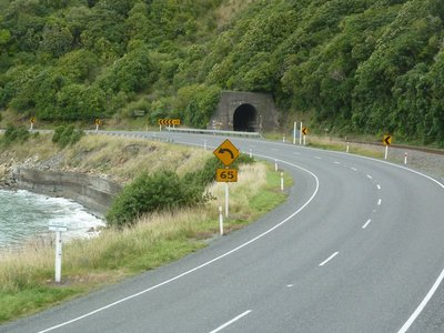 There were numerous tunnels where the mountains reached the sea