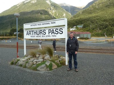 Me at Arthur's Pass, the highest settlement in NZ