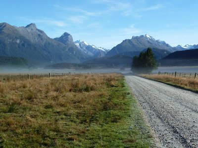 The view south from Paradise near Glenorchy