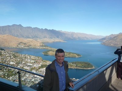 View of Queenstown and Lake Wakatipu from the top of the Gondola