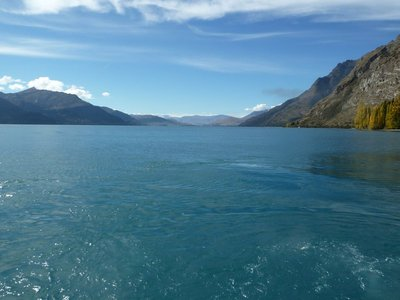 Looking back across Lake Watatipu towards Queenstown from Walter Peak