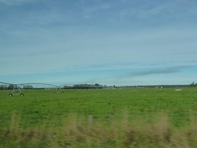 Irrigation machinery on the Canterbury Plains