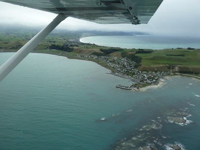 The Kaikoura peninsular from the air
