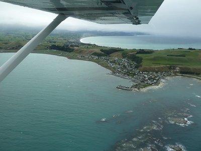 The Kaikoura peninsular from the air