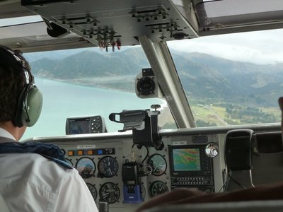 Coming into land at Kaikoura