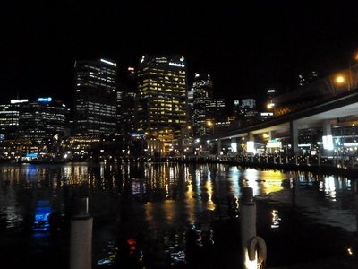 Sydney's Darling Harbour at night