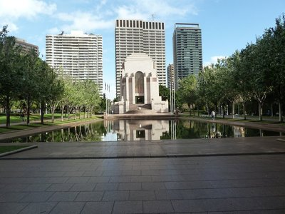 The ANZAC Memorial and Lake of Reflections in Hyde Park