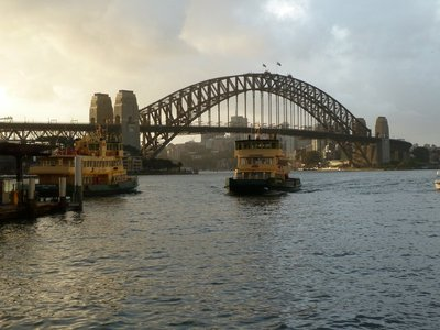 The view of the Sydney Harbour Bridge from the Circular Quay