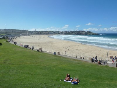 My first view of Bondi Beach