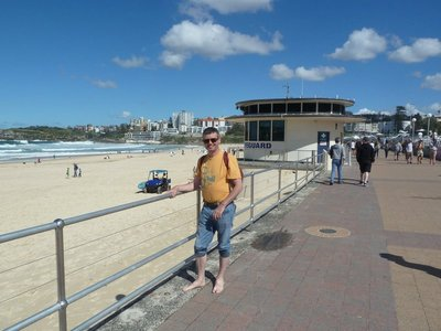 Me by the Lifeguard Lookout on Bondi Beach