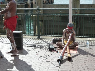 Aboriginal Cultural Performers on the Circular Quay
