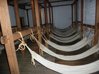 Convict hammocks at the Hyde Park Barracks