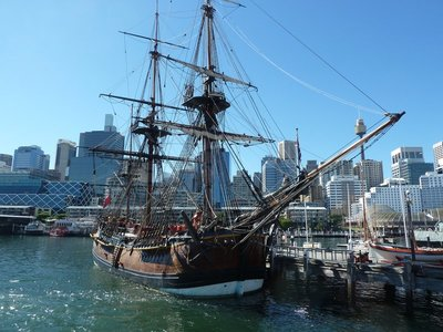 Replica of Captain Cook's HMS Endevour in Darling Harbour